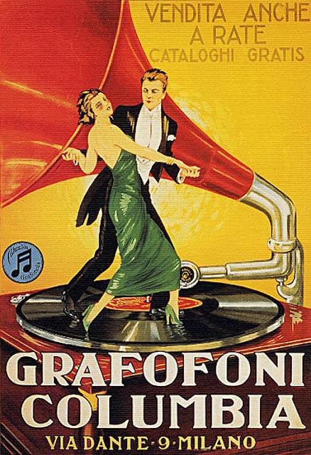 Παλιά αφίσα με γραμμόφωνο της Columbia / Columbia gramophone vintage poster