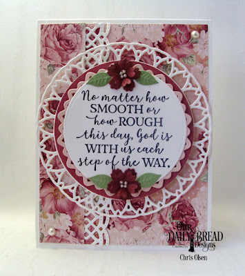 Our Daily Bread Designs Stamp Set: God Quotes 2, Custom Dies: Beautiful Borders, Bitty Blossoms, Filigree Circles, Circles, Pierced Rectangles, Paper Collection: Romantic Roses