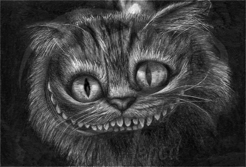 06-Cheshire-Cat-Alice-in-Wonderland-Lisandro-Peña-Animal-Drawings-with-Attention-to-Minute-Details-www-designstack-co