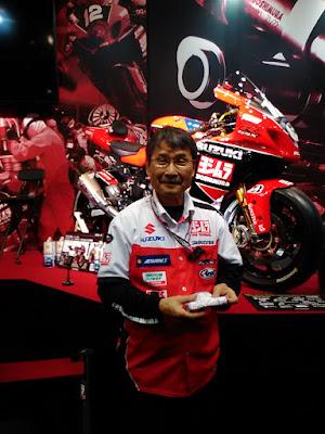 ヨシムラジャパン社長、吉村不二雄。東京モーターサイクルショー2016