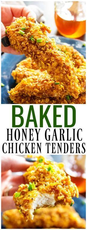 Baked Honey Garlic Chicken Tenders