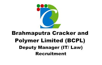 Deputy Manager (IT/ Law) Recruitment in BCPL, Apply Online. Last Date: 31.03.2019