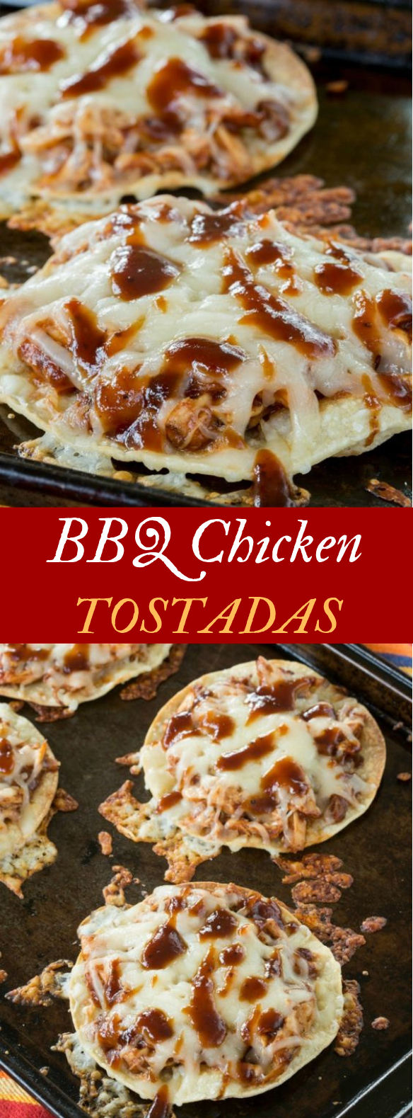 BBQ CHICKEN TOSTADAS #QuickDinner #EasyDinner