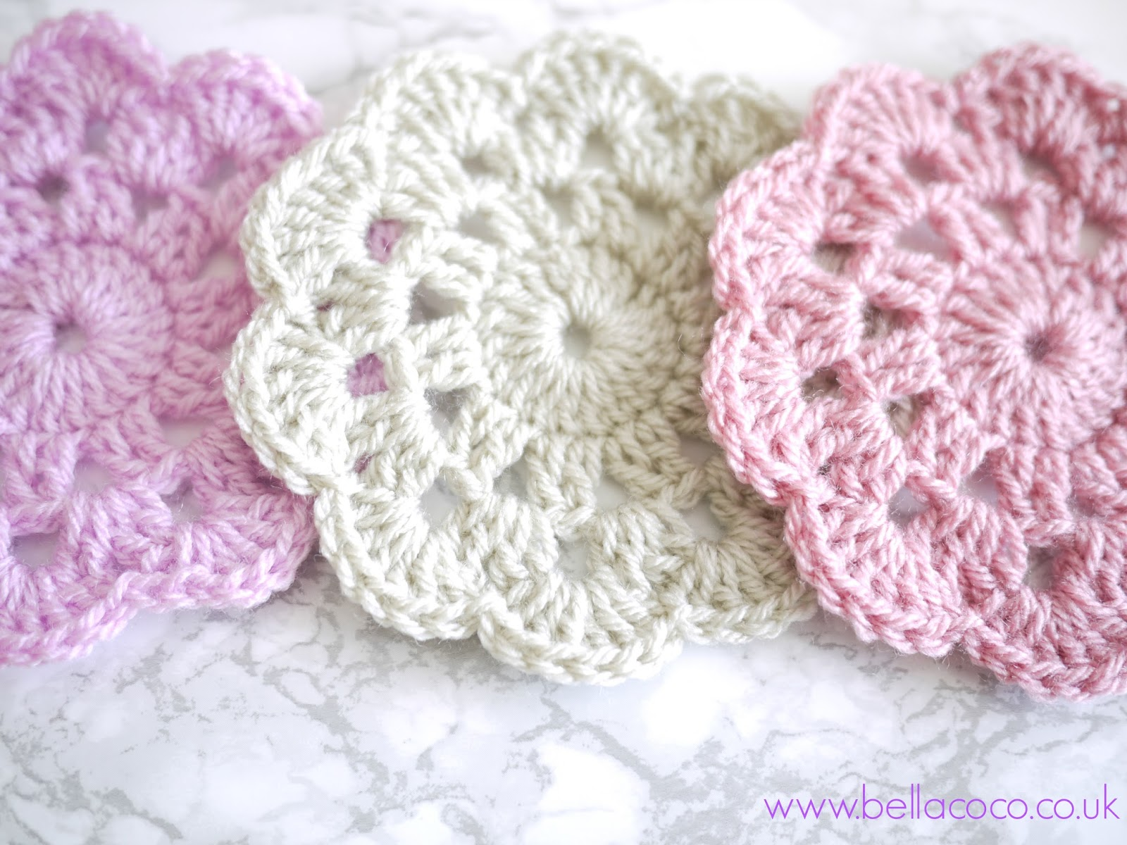 Crochet Coasters Pattern | FREE pattern and video tutorial