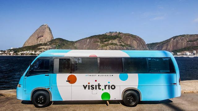 Twitter Buzz: ônibus do Twitter leva internet gratuita para locais de jogos na Olimpíada