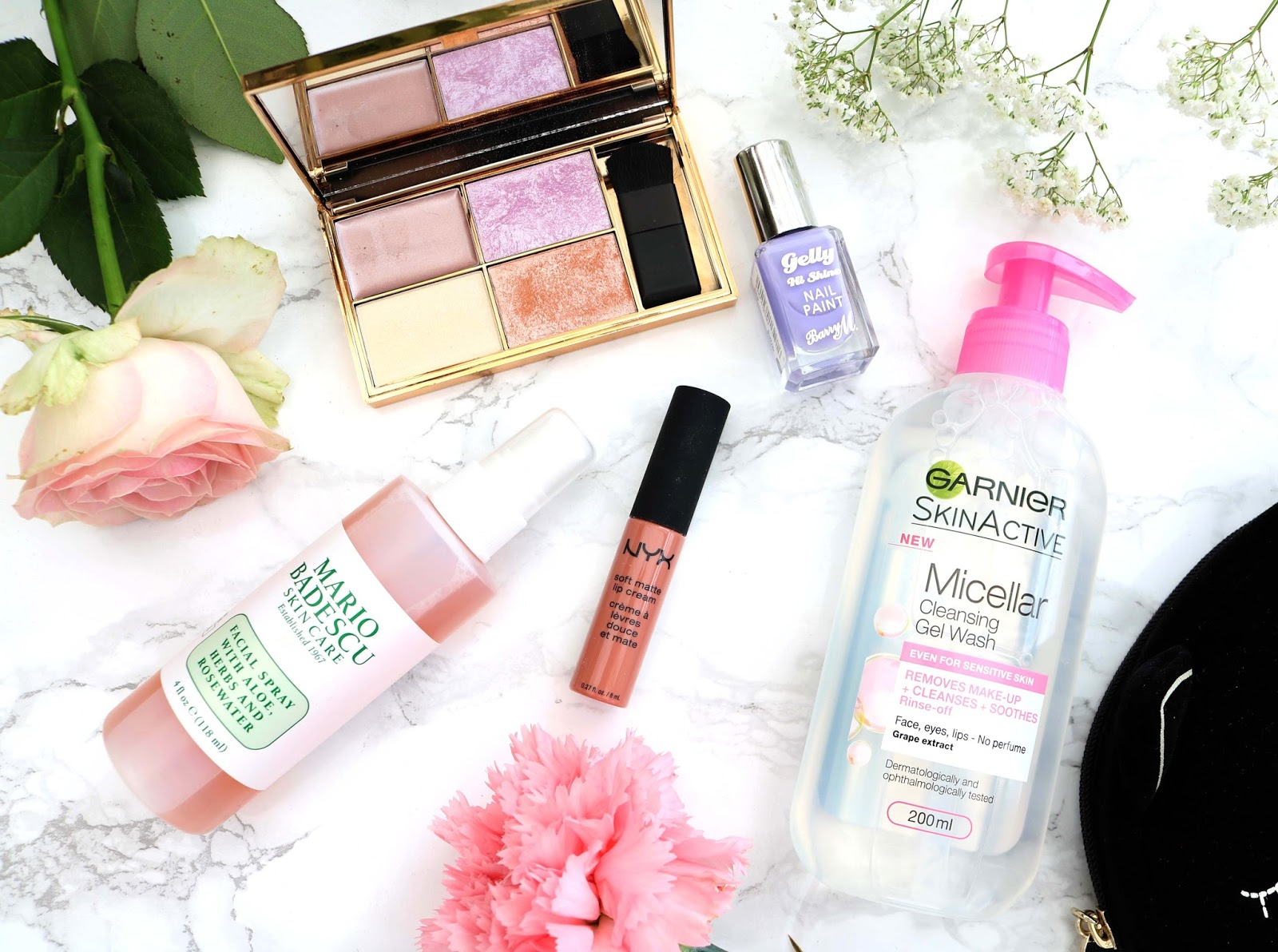 monthly, favourites, march, beauty, 2017, spring, sleek, nyx, garnier, mario badescu, Barry M,