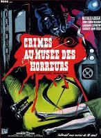 Horror en el museo negro, cartel francés de este película.