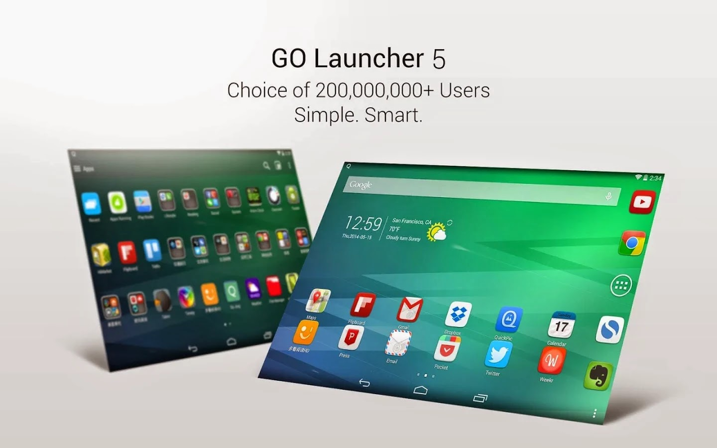Go Launcher EX apk file for android Phone
