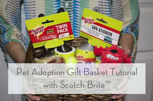 Pet Adoption Gift Basket Tutorial