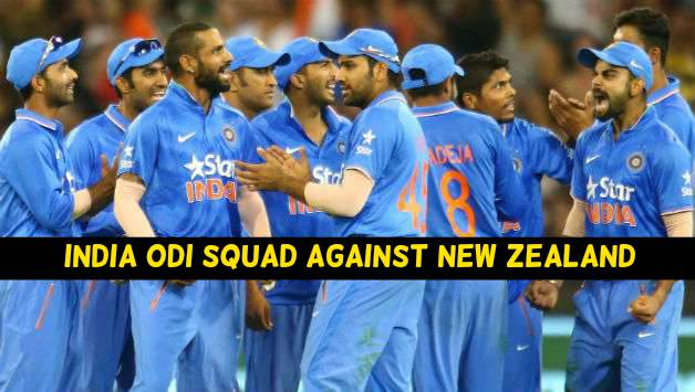 India vs New Zealand: India ODI Squad against New Zealand