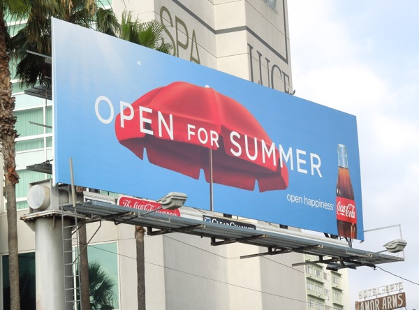 Coke Open Summer umbrella billboard
