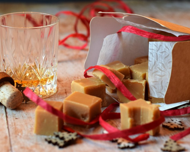 Whisky fudge makes for a great gift for loved ones