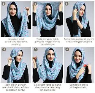 Cara Memakai Hijab Scarf