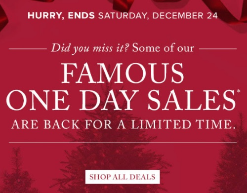 Hudson's Bay Famous One Day Sales are Back!