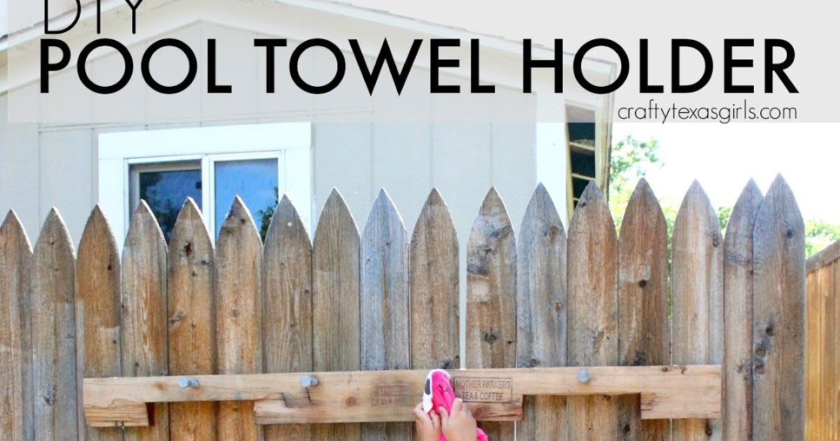 Diy Towel Rack For Pool Wood