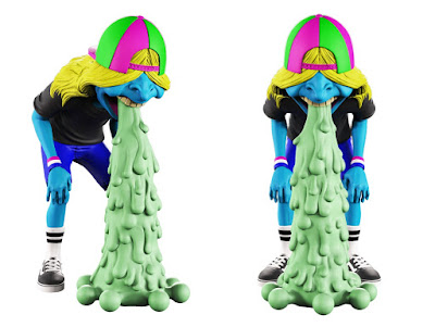 Vomit Kid Glow in the Dark Puke Edition Vinyl Figure by OKEH x Mighty Jaxx