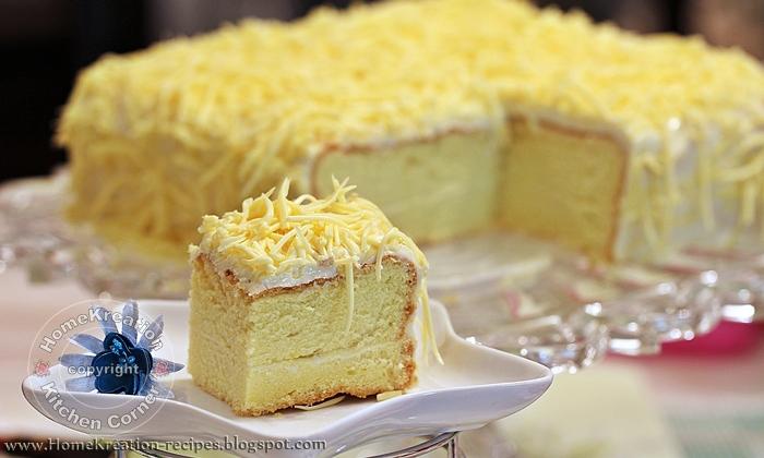HomeKreation - Kitchen Corner: Snow Cheesecake (Kek Cheese Bersalji)