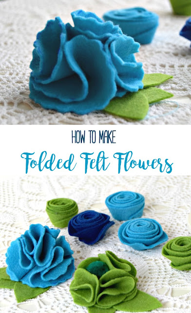 How To Make Folded Felt Flowers Applegreen Cottage