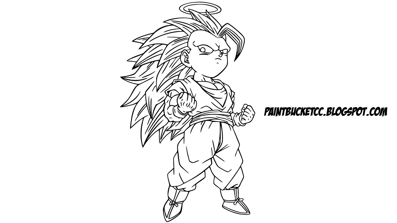 Dragon Ball Z Super Saiyan 3 Goku Free Printable Clip Art