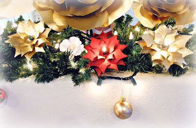 How to Make Lighted Poinsettia Garland - Step by Step Tutorial