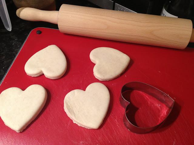 Heart shaped pastry cut outs