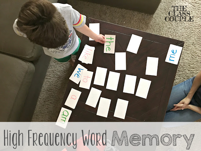 Kids love playing games, and memory is a great way to help them practice their sight words!