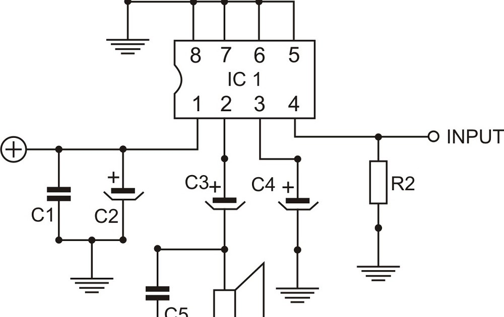 Free schematic: Power Amplifier TDA7231