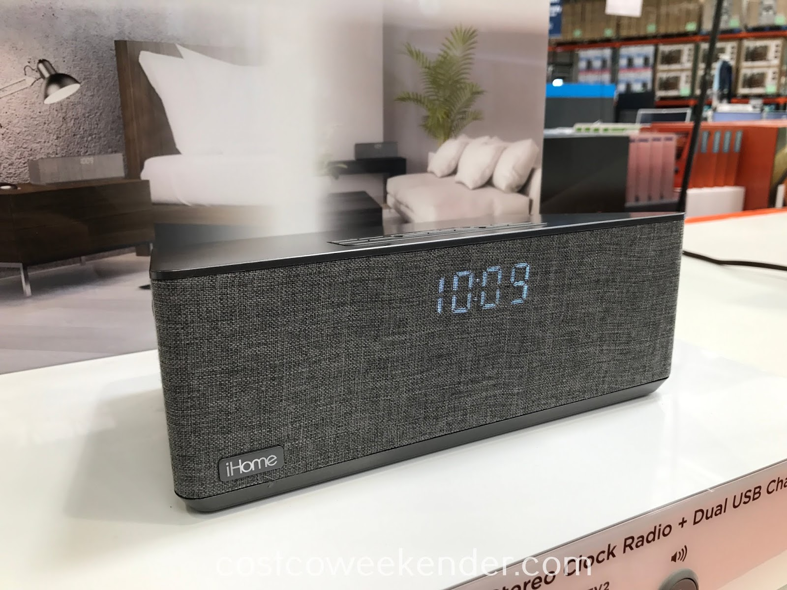 Wake up in the morning to music from your smartphone with the iHome Dual Alarm Stereo Clock Radio
