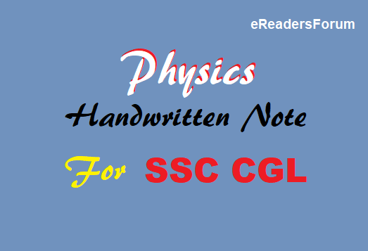 ssc-cgl-physics-handwritten-note