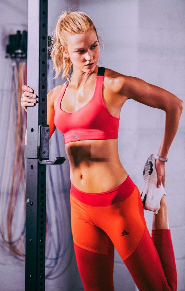 Karlie shows off her toned bod as she models Adidas' SS17 range