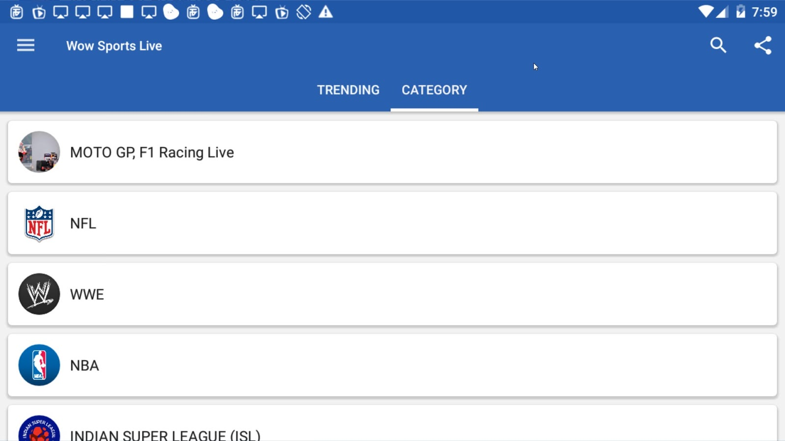 WoW Sports Live Apk App for Android or Amazon Fire Devices