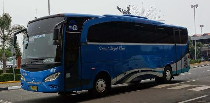 rute, tarif, dan jadwal bus damri bandara soekarno hatta dari jabodetabek, jawa barat, dan banten