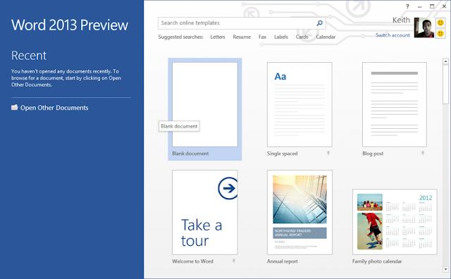 Microsoft Office Word 2013 Metro UI