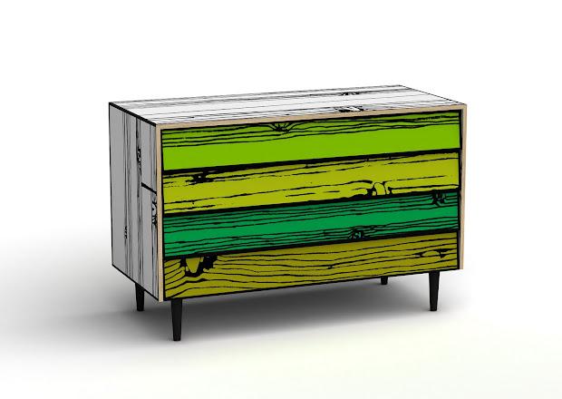 Pop Art Chest Of Drawers Modern Design