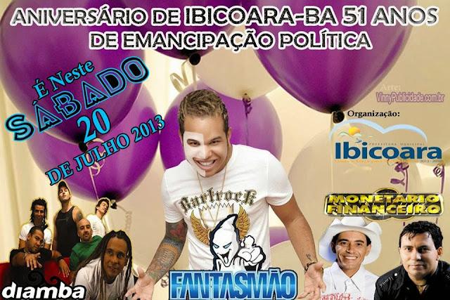 """51 Anos de emancipação política Ibicoara """"20 de Julho 2013"""""""