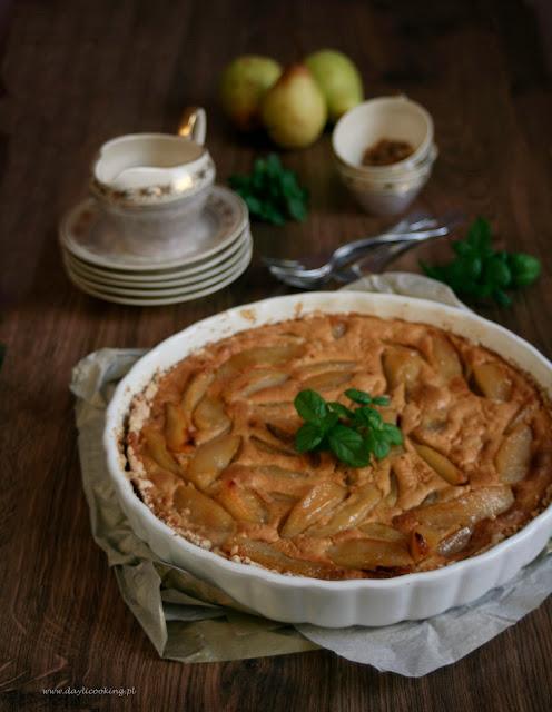 kandyzowane gruszki, tarta, ciasto gruszkowe, ciasto z gruszkami, daylicooking