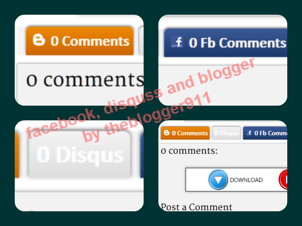 How to Use Facebook, Disqus and Blogger Comment tab Together in Blogger Blogs