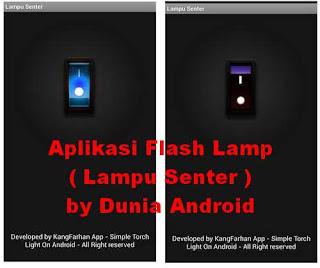 aplikasi lampu senter dunia android