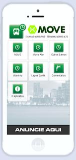 Tela 1 do Aplicativo Horários Morro Alto
