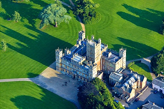 Highclere Castle aerial view