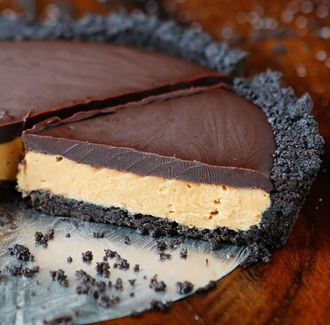 Chocolate Peanut Butter Pie #Pie #Chocolate