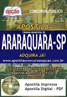 apostilas da Câmara de Araraquara SP 2017