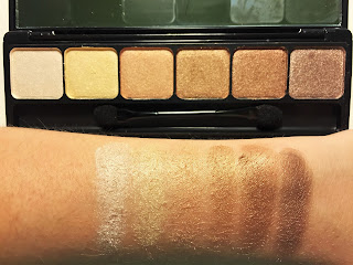 e.l.f. Prism Eyeshadow in Naked swatches
