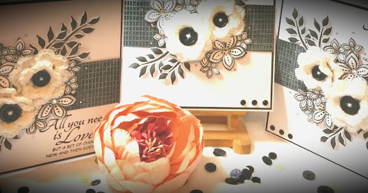 Love and Chocolate - Black & White - for Bee Crafty Stamps