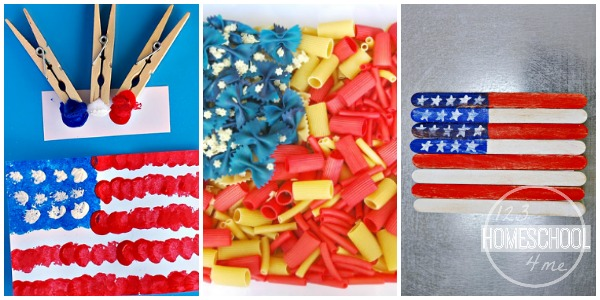 flag day activities for kids pom pom american flag painting