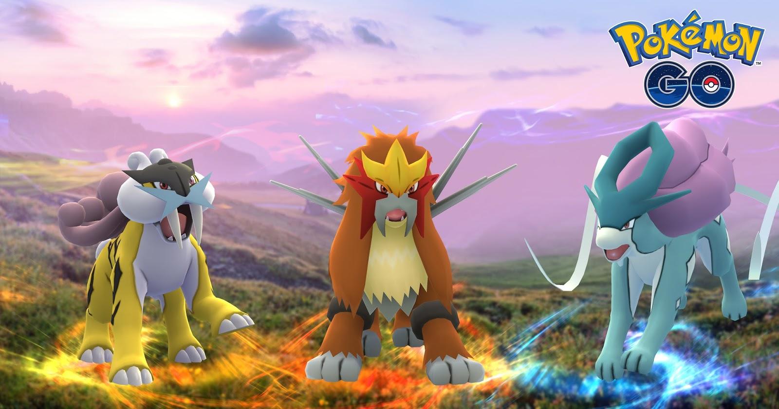 Raikou, Entei, e Suicune - Pokémon GO