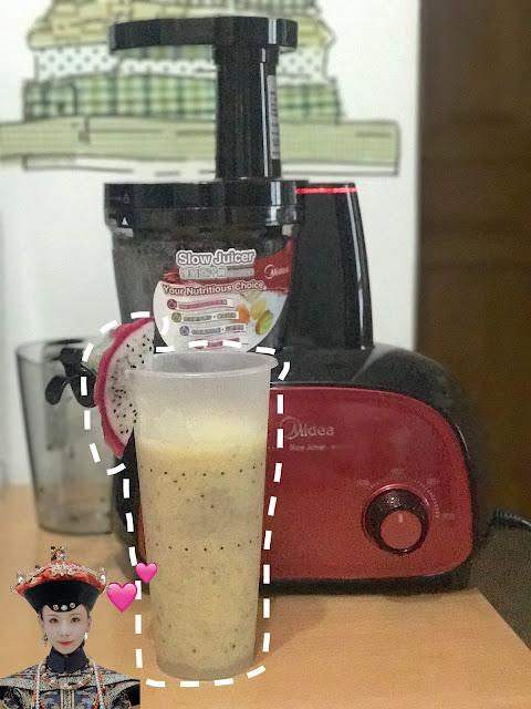 【Recipe】煲延禧攻略後解毒〖火龍果蘋果汁〗*美的 慢磨榨汁機