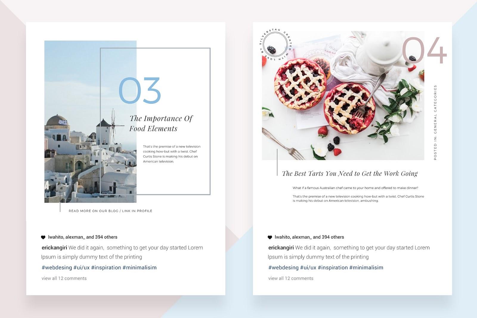 plantillas bonitas para posts instagram canva diseños editables