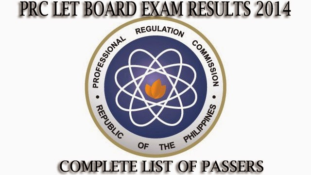 PRC Releases LET Results for 2014 Complete and Full List of Passers