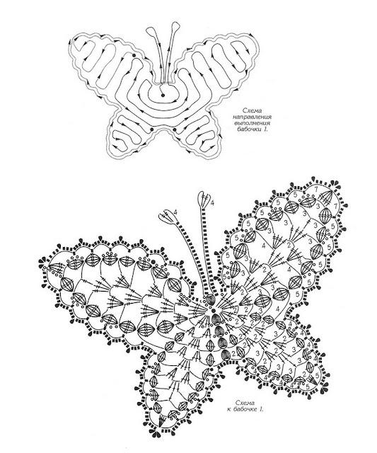 дуплет бабочки крючком